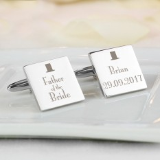 Hampers and Gifts to the UK - Send the Personalised Decorative Wedding Cufflinks - Father of the Bride