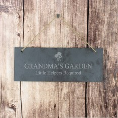 Hampers and Gifts to the UK - Send the Personalised Slate Flower Door Plaque Decoration