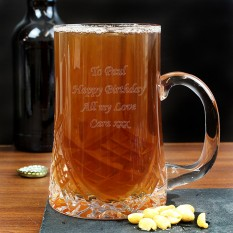 Hampers and Gifts to the UK - Send the Personalised Crystal Pint Tankard