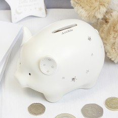 Hampers and Gifts to the UK - Send the Personalised Twinkle Twinkle Piggy Money Box