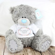 Hampers and Gifts to the UK - Send the Personalised Me To You Bear - Floral T-Shirt