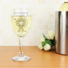 Hampers and Gifts to the UK - Send the Personalised Purple Ronnie Rosette Wine Glass For Her