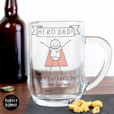 Hampers and Gifts to the UK - Send the Personalised Purple Ronnie Super Hero Tankard