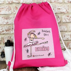 Hampers and Gifts to the UK - Send the Personalised Bang On The Door Ballet Dancer Kit Bag