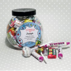 Hampers and Gifts to the UK - Send the Personalised Sweet Jar - Starburst