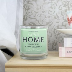 Hampers and Gifts to the UK - Send the Personalised HOME Scented Jar Candle