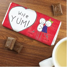 Hampers and Gifts to the UK - Send the Personalised Purple Ronnie Couples Chocolate