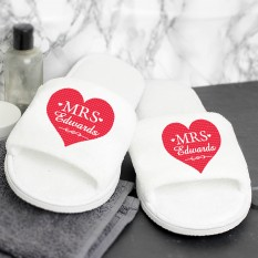 Hampers and Gifts to the UK - Send the Personalised Mrs Velour Slippers