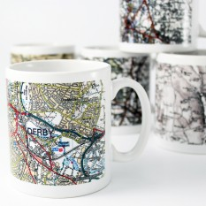 Hampers and Gifts to the UK - Send the Personalised Present Day Edition Map Mug