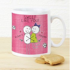 Hampers and Gifts to the UK - Send the Personalised Purple Ronnie Sweet Like You Mug