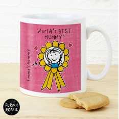 Hampers and Gifts to the UK - Send the Personalised Purple Ronnie Rosette Mug For Her