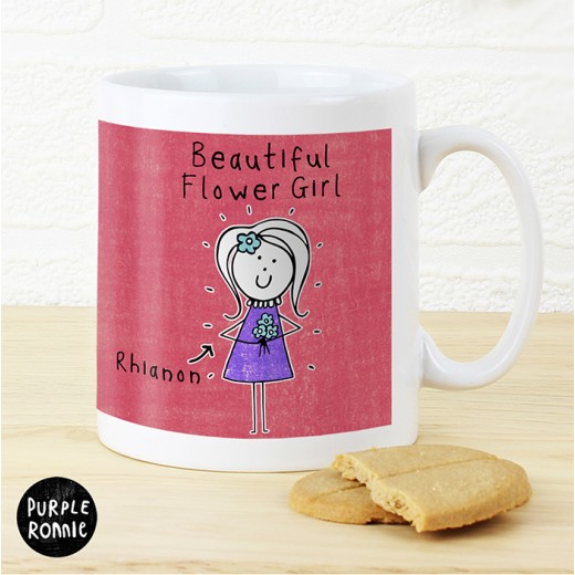 Hampers and Gifts to the UK - Send the Personalised Purple Ronnie Female Wedding Mug