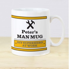Hampers and Gifts to the UK - Send the Personalised Man At Work Mug