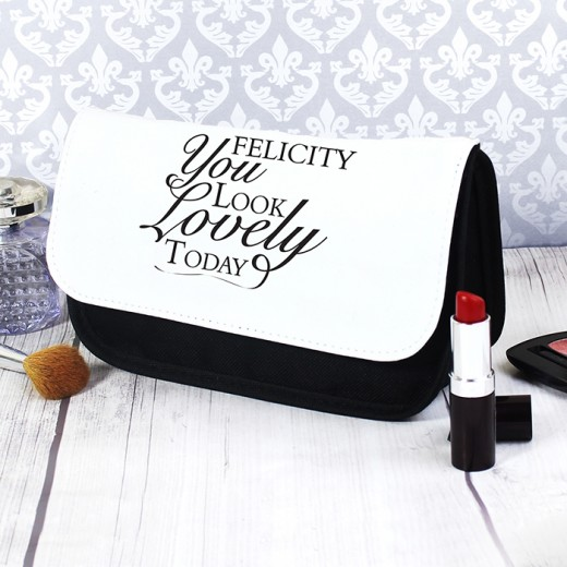 Hampers and Gifts to the UK - Send the Personalised Any Name Cosmetic Bag