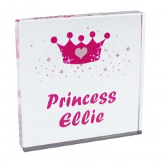 Hampers and Gifts to the UK - Send the Personalised Crystal Token - Princess Crown