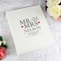 Hampers and Gifts to the UK - Send the Mr and Mrs Traditional Wedding Album