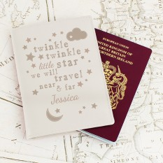 Hampers and Gifts to the UK - Send the Personalised Twinkle Twinkle Passport Holder