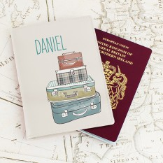 Hampers and Gifts to the UK - Send the Personalised Suitcases Passport Holder