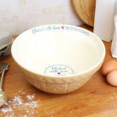 Hampers and Gifts to the UK - Send the Personalised Baking Bowl - Baked With Love