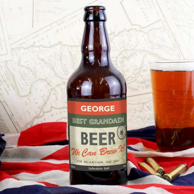 Hampers and Gifts to the UK - Send the Personalised Beer Bottle - Nostalgia