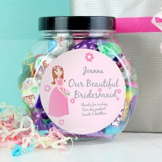 Hampers and Gifts to the UK - Send the Personalised Sweet Jar - Bridesmaid Gift