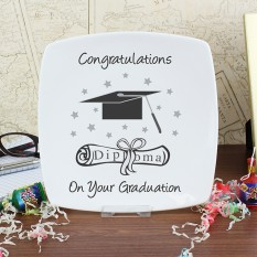 Hampers and Gifts to the UK - Send the Commemorative Graduation China Plate