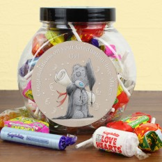 Hampers and Gifts to the UK - Send the Personalised Me to You Graduation Sweet Jar