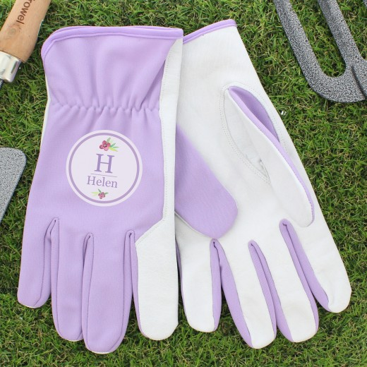 Hampers and Gifts to the UK - Send the Personalised Floral Gardener Gloves - Womens