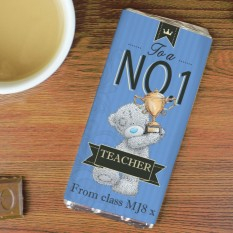 Hampers and Gifts to the UK - Send the Personalised Me to You No. 1 Teacher Chocolate Bar