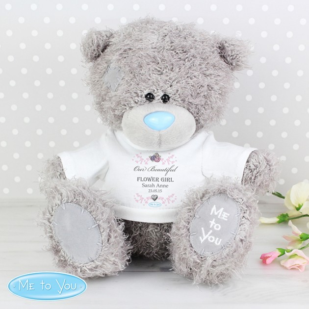 Hampers and Gifts to the UK - Send the Personalised Me To You Bear - Flower Girl T-Shirt