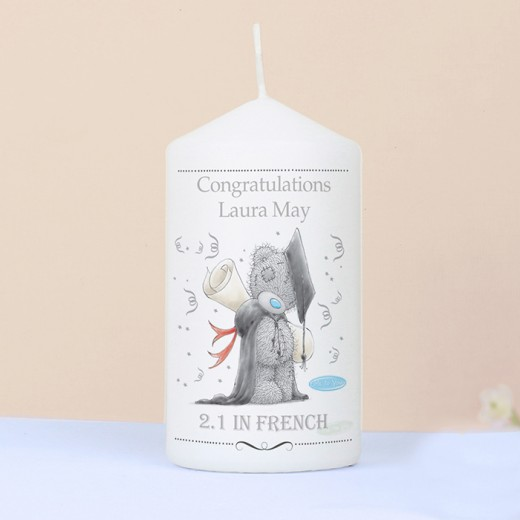 Hampers and Gifts to the UK - Send the Personalised Me to You Graduation Candle