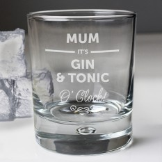 Hampers and Gifts to the UK - Send the Personalised It's... O'Clock Tumbler Glass