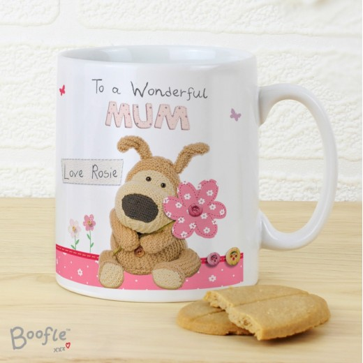 Hampers and Gifts to the UK - Send the Personalised Boofle Wonderful Mum Mug