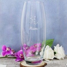 Hampers and Gifts to the UK - Send the Personalised Classic Vase for Mum