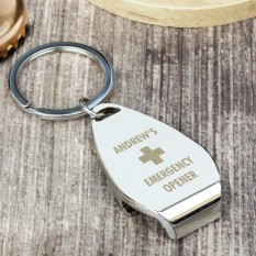 Hampers and Gifts to the UK - Send the Personalised Emergency Bottle Opener Keyring