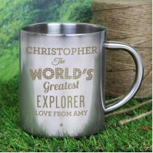 Personalised The Worlds Greatest Metal Mug