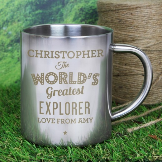 Hampers and Gifts to the UK - Send the Personalised The Worlds Greatest Metal Mug
