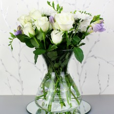 Hampers and Gifts to the UK - Send the Personalised Sentiments Vase - Sympathy
