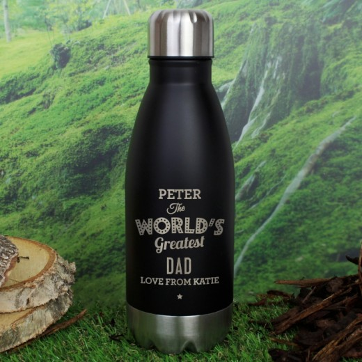 Hampers and Gifts to the UK - Send the Personalised The Worlds Greatest Travel Bottle