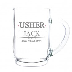 Hampers and Gifts to the UK - Send the Usher Tankard - Personalised