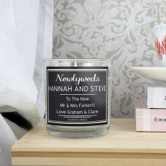 Hampers and Gifts to the UK - Send the Wedding Scented Candle - Personalised