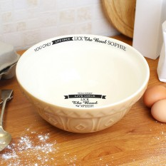 Hampers and Gifts to the UK - Send the Personalised Baking Bowl - You Only Live Once
