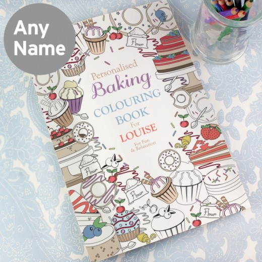 Hampers and Gifts to the UK - Send the Personalised Adult Colouring Book - Baking