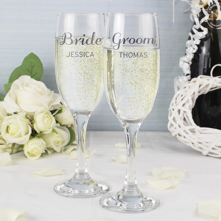 Wedding Gift Champagne Glasses : ... Occasion Wedding Gifts Classic Wedding Champagne FlutesPersonalised