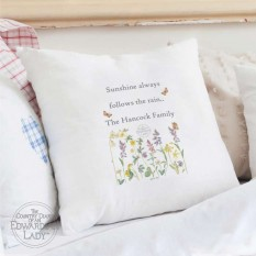 Hampers and Gifts to the UK - Send the Personalised Cushion Cover - Country Diary