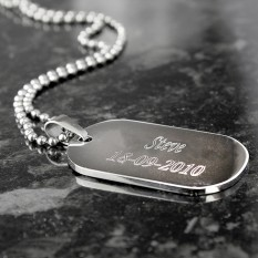 Hampers and Gifts to the UK - Send the Personalised Dog Tag Necklace - Stainless Steel