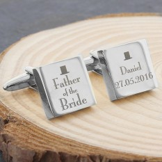 Hampers and Gifts to the UK - Send the Father of the Bride Cufflinks - Personalised