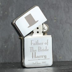 Hampers and Gifts to the UK - Send the Father of the Bride Lighter - Personalised