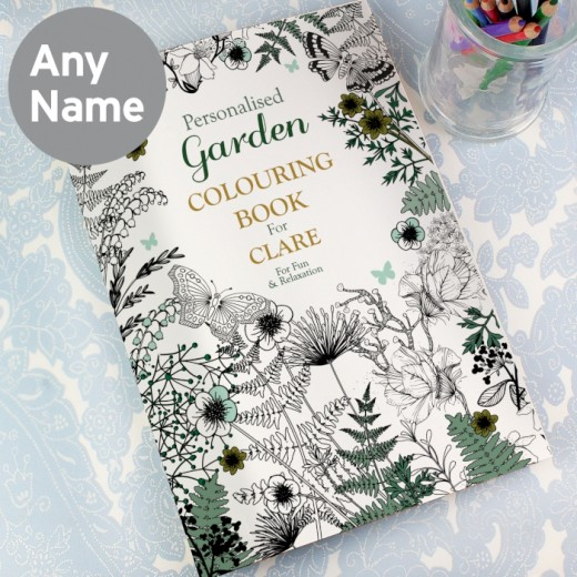 Hampers and Gifts to the UK - Send the Personalised Adult Colouring Book - Gardening