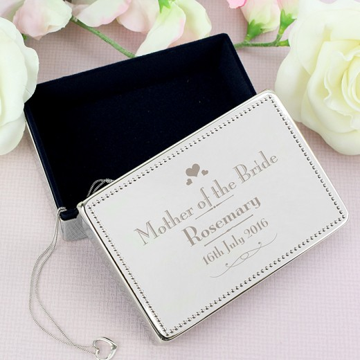 Hampers and Gifts to the UK - Send the Mother of the Bride Jewellery Box - Personalised
